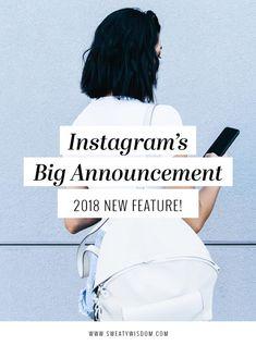 Instagram's Big Announcement: 2018 New Feature! #Instagram Scheduling! // Sweaty Wisdom