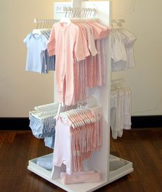 Baby Shop Garment Slatwall Gondola Display Rack - Boutique Store Fixtures Manufacuring, Retail Shop Fitting Display Furniture Supply Source by christiepal store Clothing Store Interior, Clothing Store Displays, Clothing Store Design, Shop Displays, Kids Clothing, Boutique Store Displays, Clothing Racks, Boutique Stores, Window Displays