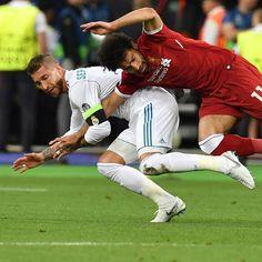 Another angle of Ramos's tackle on Salah #lfc #realmadrid #uclfinal