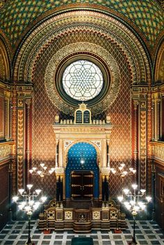 Spanish Synagogue, U Stare Skoly, Prague Jewish Synagogue, Jewish Temple, Synagogue Architecture, Historical Architecture, Visit Prague, Central And Eastern Europe, Prague Travel, Prague Czech Republic, Holocaust Memorial