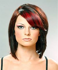 Salon Hairstyle: Casual Medium Straight Hairstyle