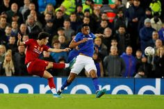 Eighteen-year-old midfielder Curtis Jones scored a glorious goal to settle the Merseyside derby at Anfield, with Liverpool beating Everton Liverpool Goalkeeper, Bill Shankly, Merseyside Derby, Liverpool One, Premier League Goals, Carlo Ancelotti, Great Team, Fa Cup, Everton