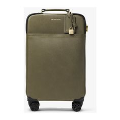 MICHAEL Michael Kors Large Saffiano Leather Suitcase (820 LYD) ❤ liked on Polyvore featuring bags, luggage and green