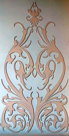 The Latest Trend in Embroidery – Embroidery on Paper - Embroidery Patterns Wall Stencil Patterns, Stencil Painting, Stencil Designs, Damask Stencil, Paper Embroidery, Embroidery Patterns, Molduras Vintage, Ornament Drawing, Intarsia Wood