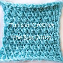 tunisian crochet  the bias stitch tutorial