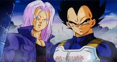 Trunks and Vegeta. Easily the best father-son duo in my opinion. I really enjoy Gohan and Goku, but for some reason, the pride Vegeta feels towards his son and the respect they have towards one another goes a lot deeper than Goku's relationship with his son to me, mostly because of the trials and tribulations that they both went through to finally accept one another. This was love in the simplest, most secret way.