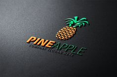 Pineapple Logo by CreativeDezing on @creativemarket