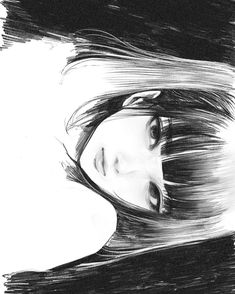 Anime Art Girl, Manga Art, Manga Anime, Anime Drawings Sketches, Art Drawings, Aesthetic Art, Aesthetic Anime, Monochromatic Art, Gothic Anime
