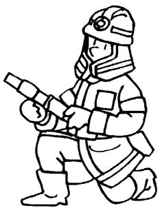 Free Printable Firefighter Coloring Pages For Kids Online Coloring Pages, Coloring Pages To Print, Free Printable Coloring Pages, Colouring Pages, Coloring Pages For Kids, Coloring Sheets, Coloring Books, Digital Stamps Free, Early Education