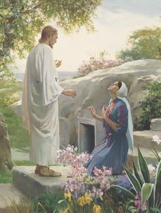 """Easter is a celebration of the resurrection of Jesus Christ, and His victory over the grave. Thus, the """"sting of death is swallowed up in Christ. Images Du Christ, Pictures Of Christ, Bible Pictures, Image Jesus, Christian Friends, Jesus Christus, Jesus Resurrection, Mary Magdalene, Easter Traditions"""