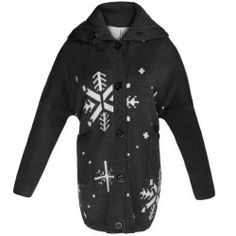 $38.99 cool Gamiss Women's Snow Flake Print Hooded Sweaters