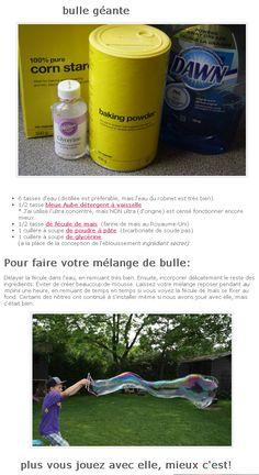 Recette BULLES de savon GEANTES (capture page web) http://happyhooligans.ca/
