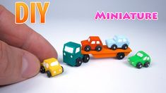 How to make a mini Toy Vehicles Car Carrier With Cars - Tutorial Simple Homemade Toys And Gifts Very easy crafts. 5 minute crafts for kids clay modelling for. Vitrine Miniature, Miniature Dolls, Miniature Tutorials, Polymer Clay Miniatures, Polymer Clay Projects, Dollhouse Toys, Dollhouse Miniatures, Dollhouse Ideas, Minis