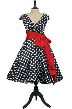 50s polka dot dress