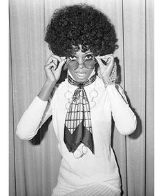 Diana Ross early 1970s afro-- afros became very popular in the late 60's and early 70's