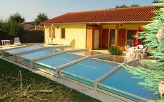 #abri #piscine #bas Abri de piscine télescopique, au choix motorisé ou manuel