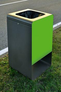 Cubo de basura en acero para exterior Colección Smith by CITYSI | diseño GIBILLERO design