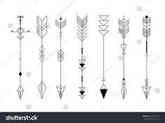 Set Graphic Arrows Design Tattoo Stock Vector (Royalty Free) 442938772 - Set of graphic arrows for design, tattoo - Diskrete Tattoos, Arrow Tattoos, Mini Tattoos, Body Art Tattoos, Tattoo Drawings, Sleeve Tattoos, White Tattoos, Ankle Tattoos, Tatoos