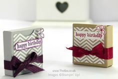 Stampin' up! UK Independent Demonstrator Pootles - No Stick Box Tutorial