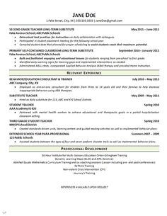 Resume Education Example Simple Special Education Teacher Resume Examples  School  Pinterest Design Ideas