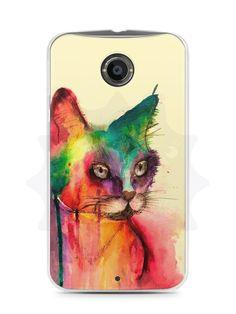 Capa Capinha Moto X2 Gato Pintura - SmartCases - Acessórios para celulares e tablets :)