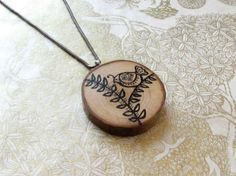 Hey, I found this really awesome Etsy listing at https://www.etsy.com/listing/175944319/woodland-pendant-hand-painted-wood-slice