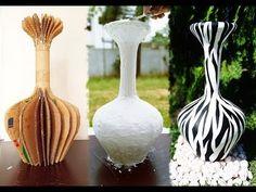 Diy Discover How to make vase- DIY vase -using cardboard Diy Bottle Bottle Crafts Paper Vase Cardboard Paper Concrete Projects Spray Painting Fun Crafts Eco Friendly Origami Cardboard Paper, Cardboard Crafts, Paper Crafts, Diy Paper, Diy Bottle, Bottle Art, Bottle Crafts, Plastic Bottle Flowers, Paper Mache Sculpture