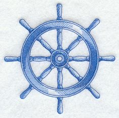 Ship's Wheel Sea Sketch
