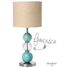 (2) Lampara Velador, Con Esferas De Ceramica, Modelo Francisca! - $ 1.450,00 en MercadoLibre