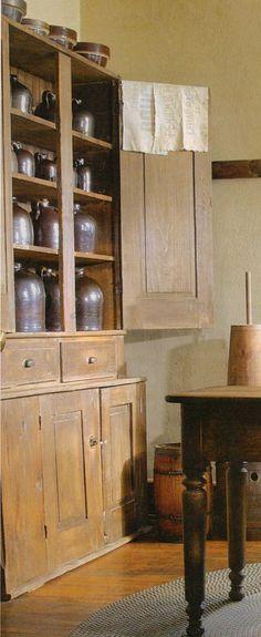 Beautiful....love all of the brown crocks & jugs.....