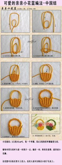 DIY Tutorial DIY Weaving / DIY weaving small baskets - Bead&Cord