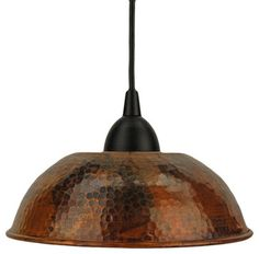 Hand-Hammered Copper Dome Pendant Light - traditional - pendant lighting - Overstock ~♥~ LOVE ~♥~ $99.00 ~♥~