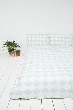Parure de lit motif festons menthe - Urban Outfitters