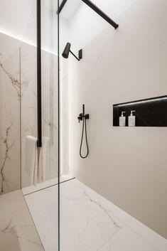 Modern design in a classic interior - . - Modern design in a classic interior – # interior - Chic Bathrooms, Modern Bathroom, Dyi Bathroom, Bathroom Black, Modern Shower, Rustic Bathrooms, Bathroom Renovations, Home Remodeling, Toilette Design
