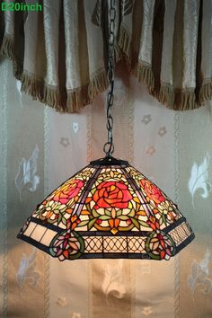 Rose Tiffany Lamp  20S0-238P11