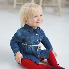 Jeans Coat by Dave Bella Kids Clothes