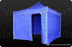 Carpa plegable con paredes azules 3x3 gama optima #carpa #carpaplegable #carpaplegablebarata http://viada.net/tienda/
