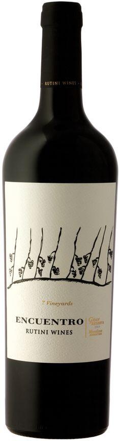 """Encuentro Seven Vineyards"" 30% Malbec / 30% Cabernet Sauvignon / 10% Petit Verdot. 10% / Cabernet Franc / 20% Merlot 2009 - Rutini Wines, Tupungato, Mendoza---------------- Terroir: Tupungato, La Consulta (San Carlos), Altamira (San Carlos)---------------------------------- Crianza: 18 meses en barricas de roble francés"
