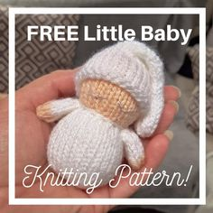 Owl Knitting Pattern, Knitting Dolls Free Patterns, Knitted Dolls Free, Christmas Knitting Patterns, Knitting Yarn, Free Knitting, Knitted Baby, Double Knitting, Knitting Ideas
