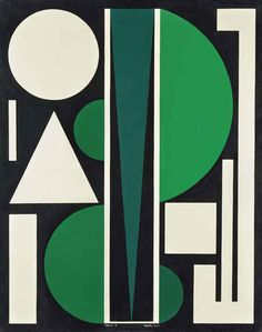 Auguste Herbin (French, 1882-1960), Non 3, 1952. Oil on canvas, 92.2 x 73 cm.