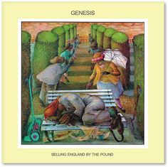 ☮ American Hippie Rock Music Album Cover Art Posters ~  Genesis - Selling England By The Pound