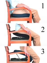 seat lifts for chairs non rolling office chair spring loaded lift pad if a full sized is either too bulky or expensive your budget try ergonomics and adaptive devices