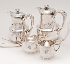 1930s Norbury House Hotel, U.K., 4-Piece silver Serving Set.