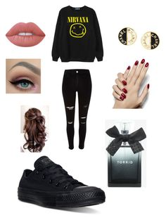 """Untitled #166"" by fashionisbae12 on Polyvore featuring Chicnova Fashion, Chanel, Lime Crime, Torrid and Converse"