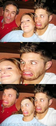 The Jensen Ackles Photobomb. The Jensen Ackles Photobomb. Face Swaps, Funny Face Swap, The Funny, Jensen Ackles, Face Replace, Memes Estúpidos, Funny Pins, Laughing So Hard, Superwholock