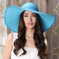 Bow floppy straw hat for women wide brim summer beach hats 10dacd1a0331