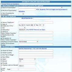 Ignou Registration Form  Admission  Online Application Form