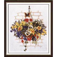 Cross Stitch Kit  Pansy Bouquet by CrossStitchKitsOnly on Etsy, $25.00