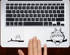"""Totoro With Friend Keyboard m151 Design Decal Sticker Vinyl For Macbook Pro Air Retina 13"""" 15"""" 17"""" Inch Laptop Cover"""