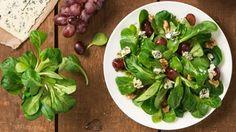 Wir lieben den Herbst und Winter für köstlichen Feldsalat. Zusammen mit Trauben und Blauschimmelkäse ein absoluter Genuss! Mmh.